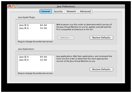 Java Preferences Application